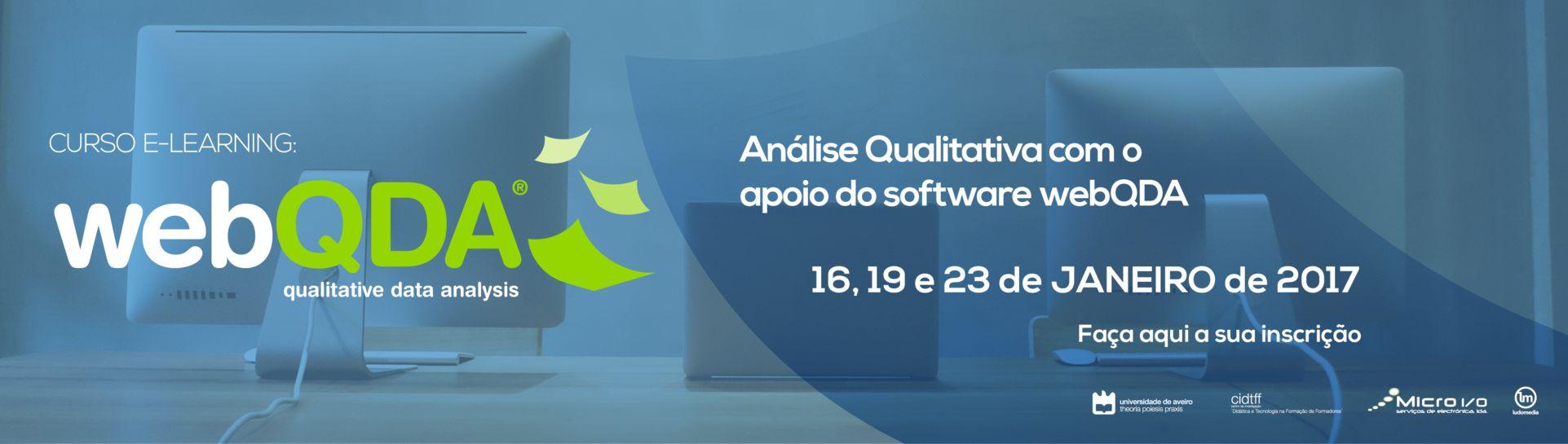 Banner Curso webQDA e-learning