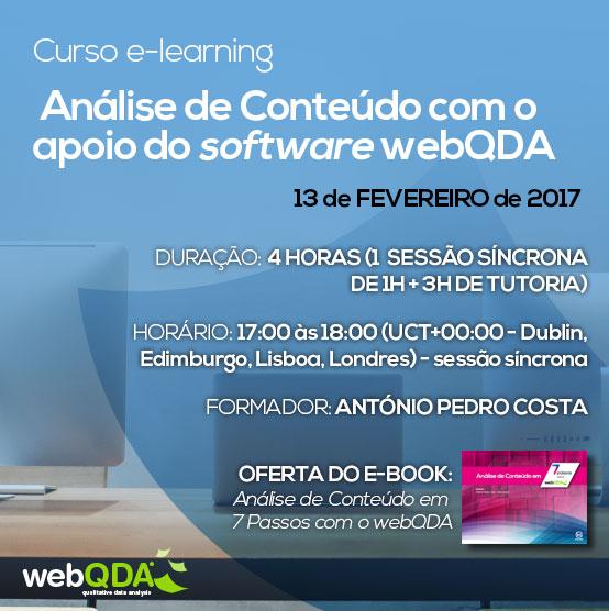curso e-learning analise conteudo