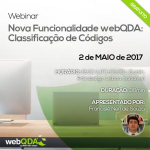 Webinar Classificação de Códigos webQDA