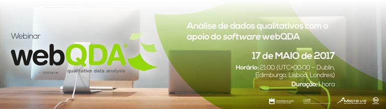 Webinar webQDA 17 de maio