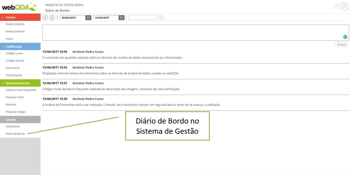 Diario de Bordo webQDA