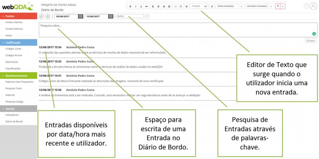 Diario Bordo webQDA