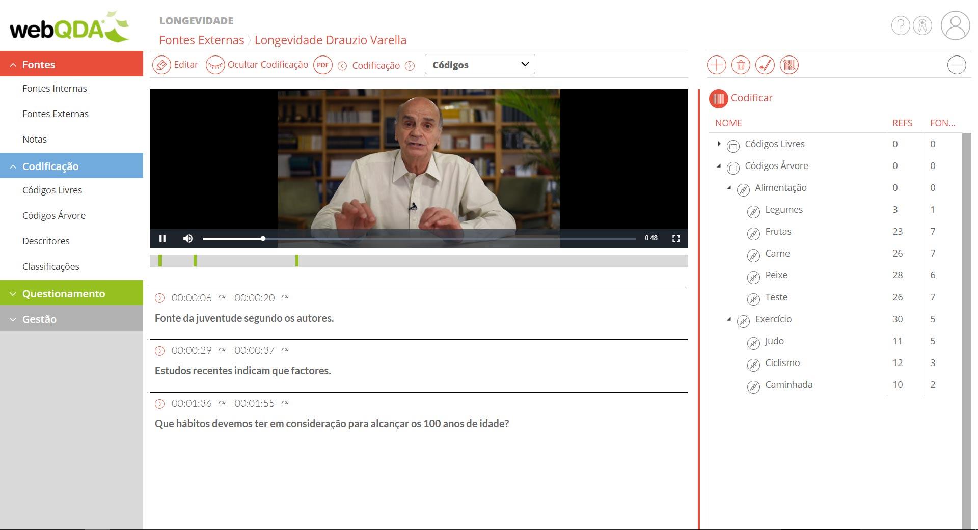 Codificação de vídeo no webQDA