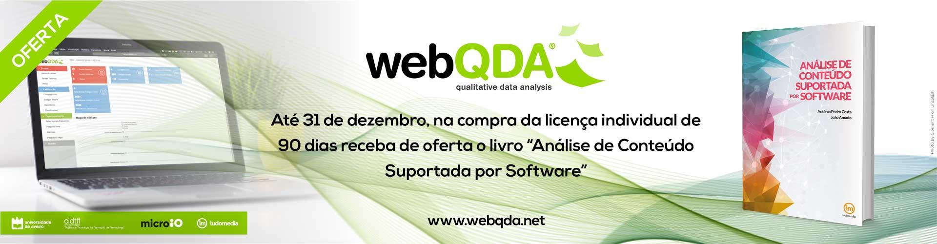 Oferta webQDA - Livro Análise de Conteúdo Suportada por Software