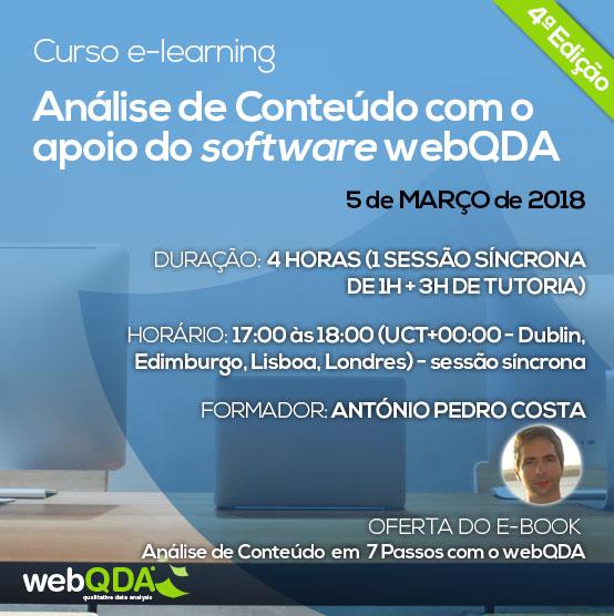 Curso e-learning análise de conteúdo