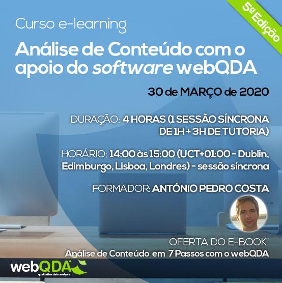 Curso elearning análise de conteúdo webQDA
