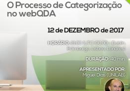 Webinar: o processo de categorização no webQDA