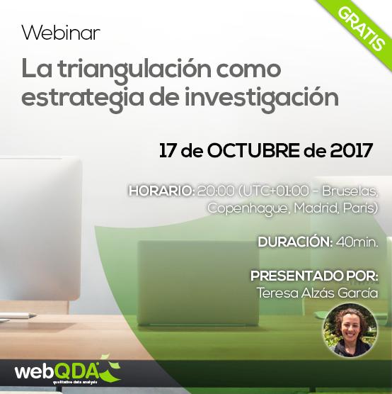 Webinar webQDA Triangulación