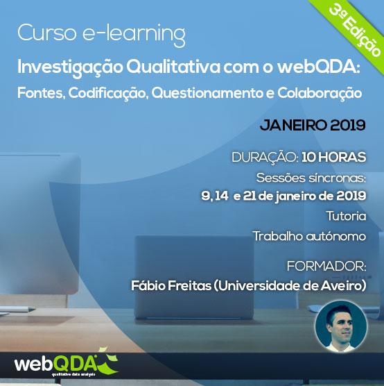 Curso elearning investigação qualitativa com o webQDA