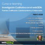 Curso E-learning Investigación Cualitativa con el webQDA: Fuentes, Codificación, Cuestionamiento y Colaboración