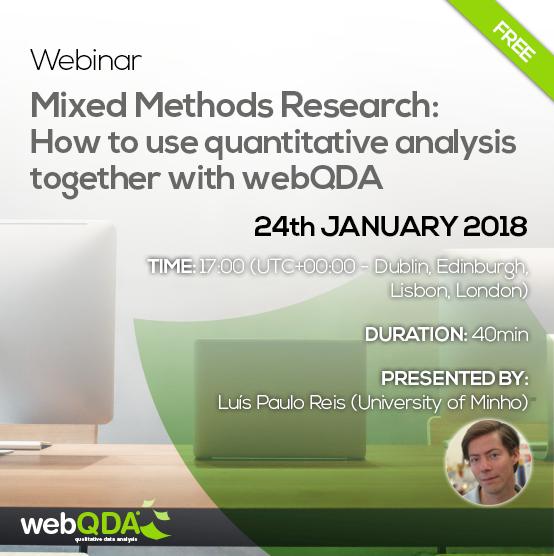 webinar mixed methods webQDA