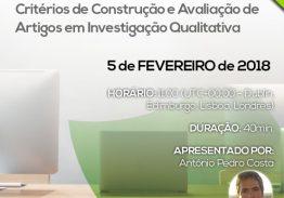 Webinar Critérios de Construção e Avaliação de Artigos em Investigação Qualitativa