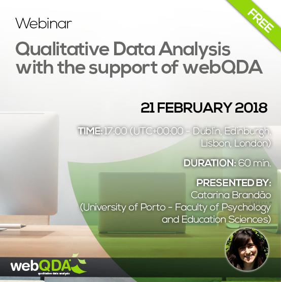 Webinar webQDA
