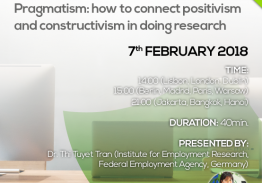 Pragmatism: How to connect positivism and constructivism in doing research