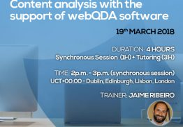 E-learning Course: Content Analysis with the support of webQDA software