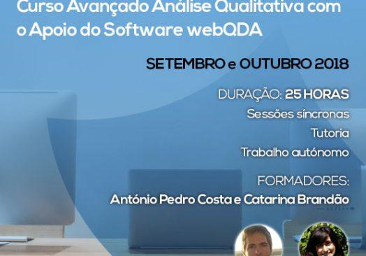 Curso E-learning Avançado: Análise Qualitativa com o Apoio do Software webQDA