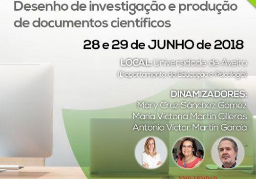 Seminário: Desenho de investigação e produção de documentos científicos