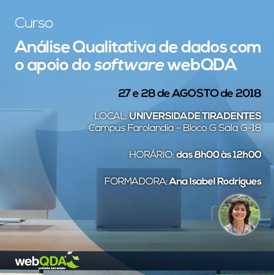Curso webQDA Universidade Tiradentes