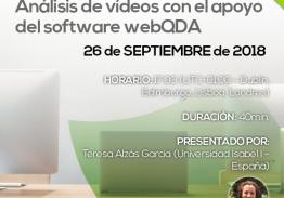 Webinar Análisis de vídeos con el apoyo del software webQDA