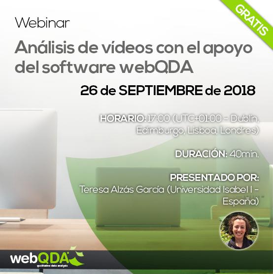 Webinar Análisis de Vídeos con webQDA