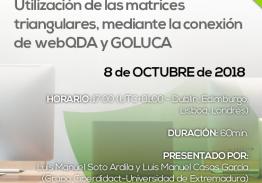 Webinar utilización de matrices triangulares, mediante la conexión de webQDA y GOLUCA (ES)