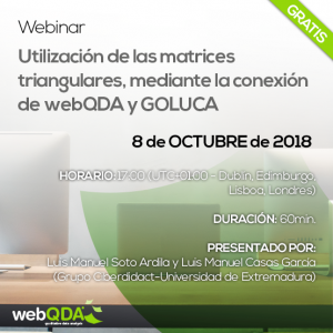 webinar webQDA matrices triangulares