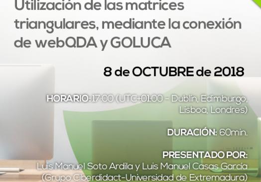 Webinar utilización de matrices triangulares, mediante la conexión de webQDA y GOLUCA