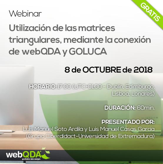 webinar webQDA matrices triangulares