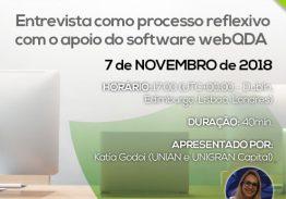 Webinar Entrevista como processo reflexivo com o apoio do software webQDA