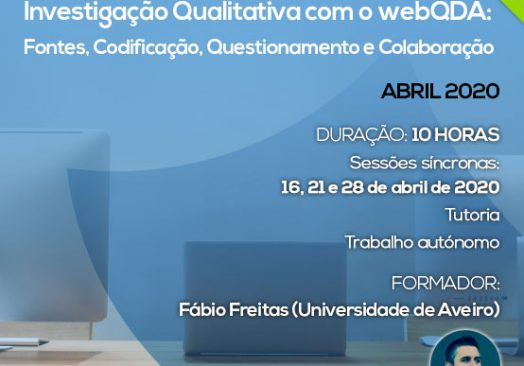 Curso E-learning Investigação Qualitativa com o webQDA: Fontes, Codificação, Questionamento e Colaboração