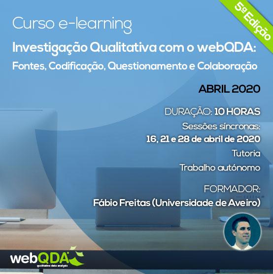 Curso elearning Intro webQDA 5ª Edição
