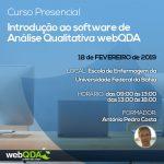 Curso de Introdução ao software de Análise Qualitativa webQDA (UFBA)