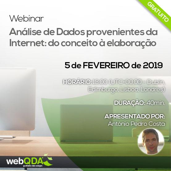 Webinar Análise de Dados da Internet webQDA