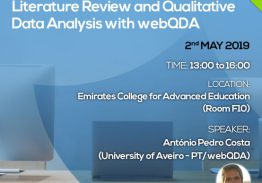 Seminar Literature Review and Qualitative Data Analysis with webQDA