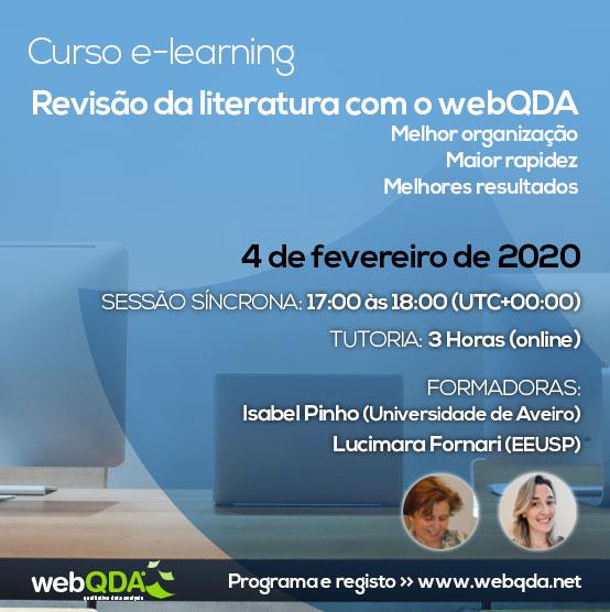 Curso elearning Revisão de Literatura webQDA