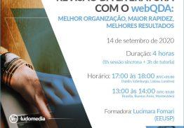 Curso e-learning Revisão da Literatura com o webQDA:melhor organização, maior rapidez, melhores resultados