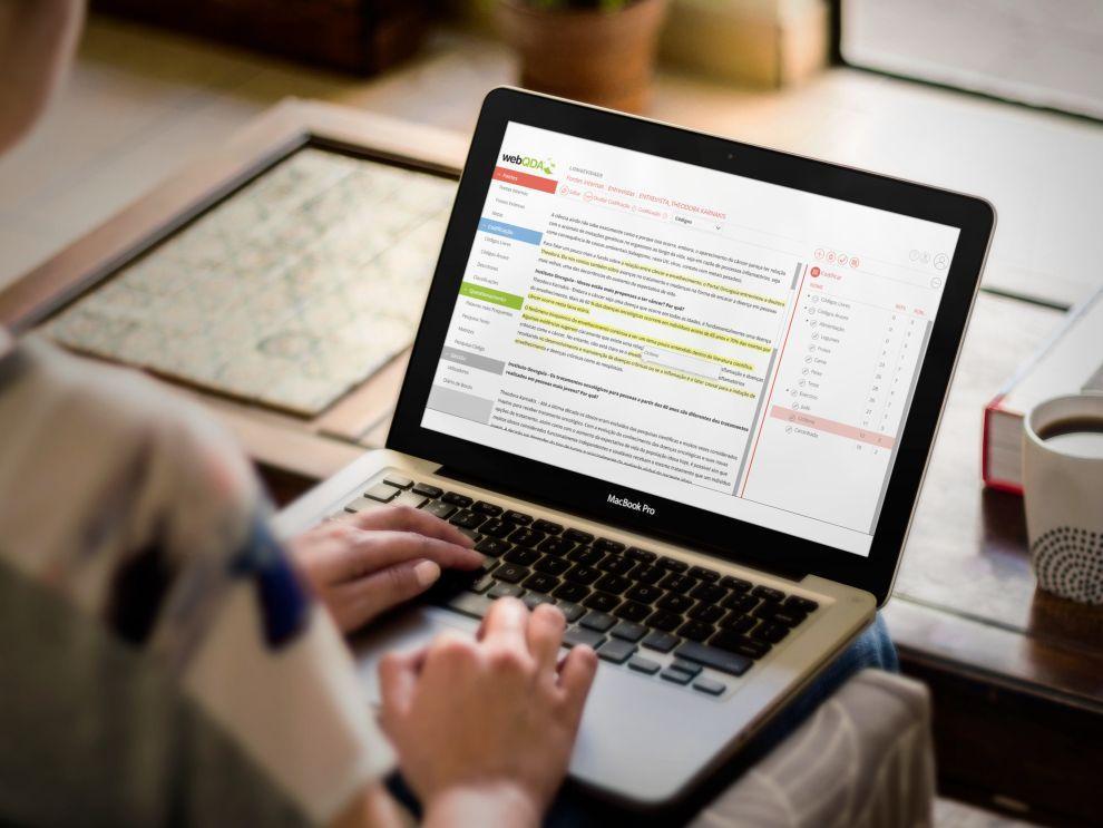 webQDA Tratamento de Dados