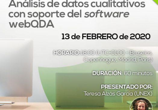 Webinar Análisis de datos cualitativos con soporte del software webQDA