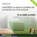 Webinar: webQDA no apoio à análise de conteúdo em entrevistas