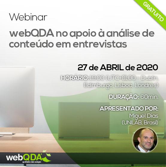 Analise de Conteudo de entrevistas webQDA