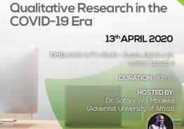 Webinar: Qualitative Research in the COVID-19 Era