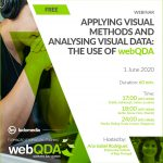 Webinar Applying visual methods and analysing visual data: the use of webQDA