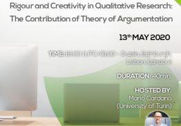 Webinar: Rigour and Creativity in Qualitative Research