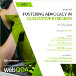 Webinar Fostering Advocacy in Qualitative Research