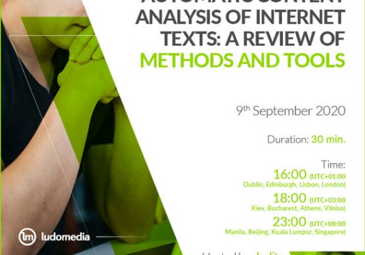 Webinar Automatic content analysis of internet texts: a review of methods and tools