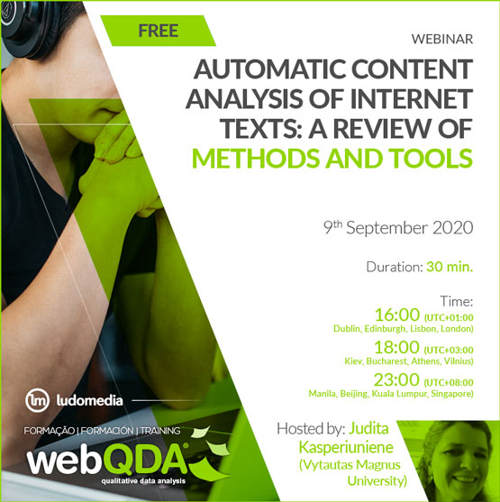 Webinar automatic content analysis