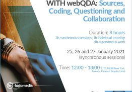 Online Course Qualitative Research with webQDA: Sources, Coding, Questioning and Collaboration
