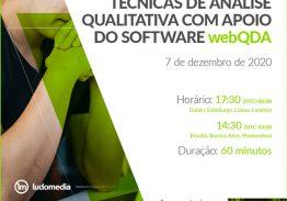 Webinar Técnicas de Análise Qualitativa com Apoio do Software webQDA