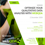 Webinar Optimize your Qualitative Data Analysis with webQDA