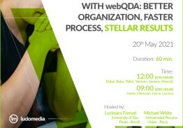 Demo Session Literature Review with webQDA: better organization, faster process, stellar results